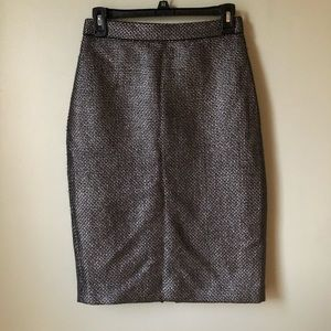 Banana Republic | Silver Tweed Pencil Skirt